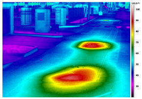 thermal imaging of steam lines